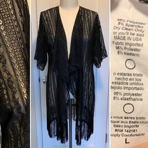 Black Lace beach cover-up Monroe Sweater LuLaRoe